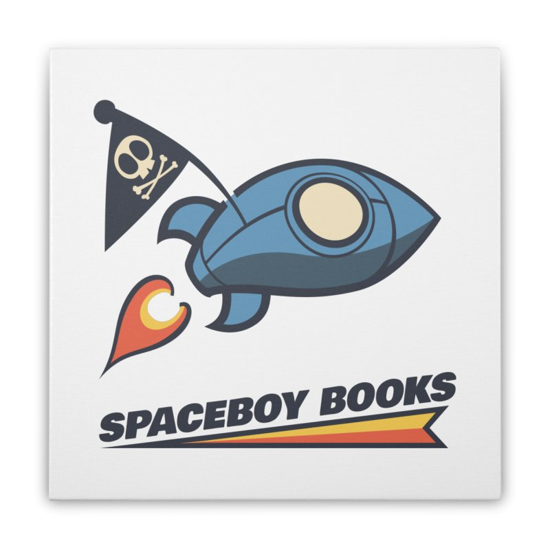 Spaceboy Books Brandmark Home Stretched Canvas by Spaceboy Books LLC's Artist Shop