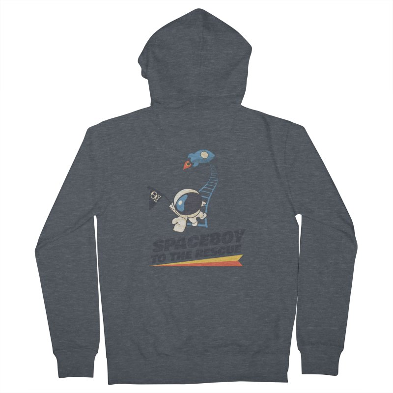 To the Rescue - Small Men's French Terry Zip-Up Hoody by Spaceboy Books LLC's Artist Shop