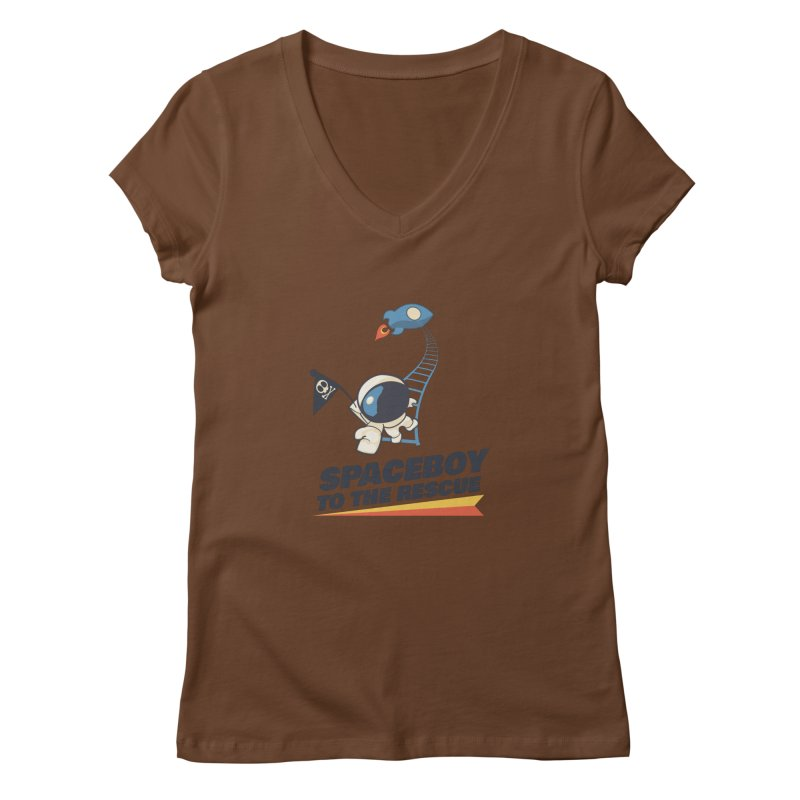 To the Rescue - Small Women's Regular V-Neck by Spaceboy Books LLC's Artist Shop