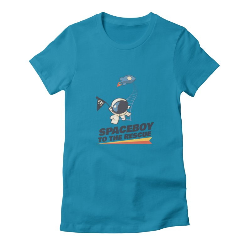 To the Rescue - Small Women's Fitted T-Shirt by Spaceboy Books LLC's Artist Shop