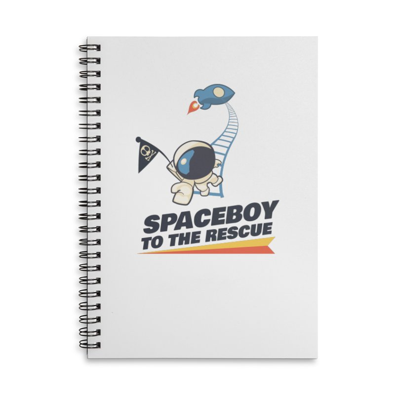 To the Rescue - Small Accessories Lined Spiral Notebook by Spaceboy Books LLC's Artist Shop