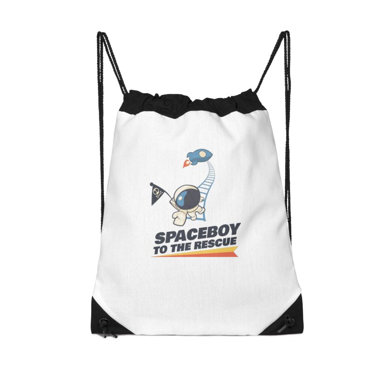 To the Rescue - Small Accessories Drawstring Bag Bag by Spaceboy Books LLC's Artist Shop