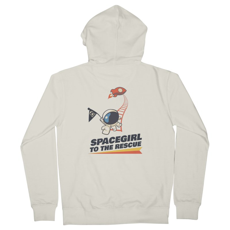 Spacegirl To The Rescue - Small Women's French Terry Zip-Up Hoody by Spaceboy Books LLC's Artist Shop