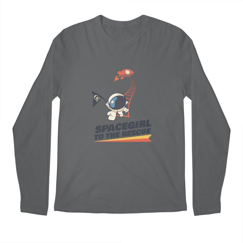 Spacegirl To The Rescue - Small Men's Longsleeve T-Shirt by Spaceboy Books LLC's Artist Shop