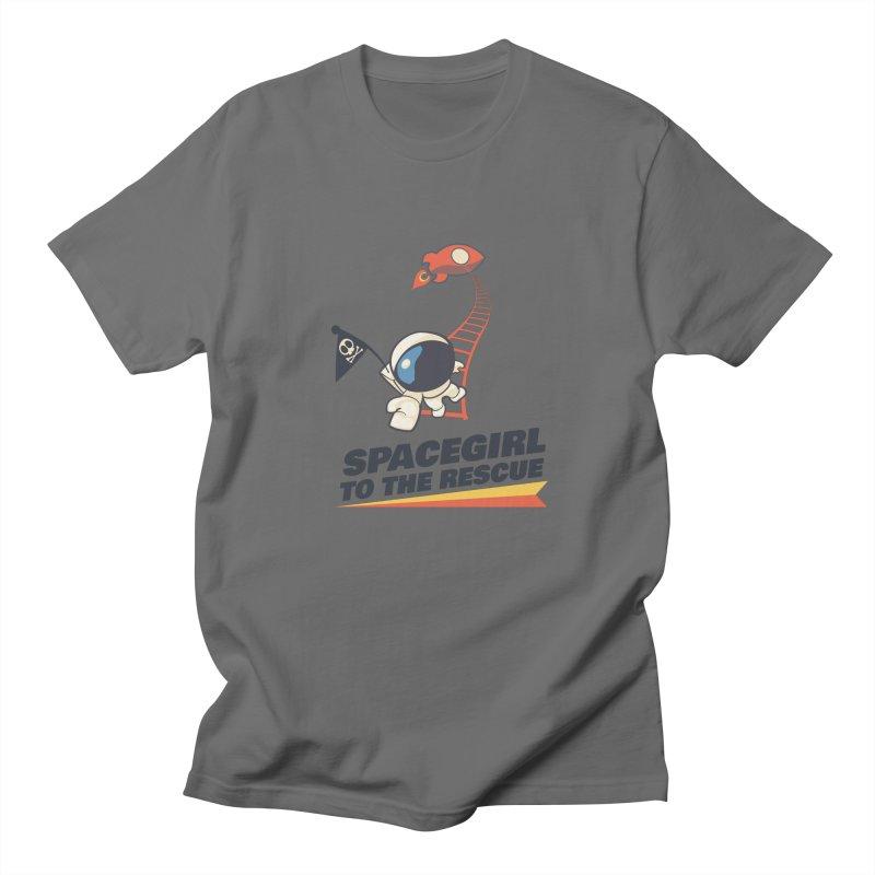 Spacegirl To The Rescue - Small Men's T-Shirt by Spaceboy Books LLC's Artist Shop