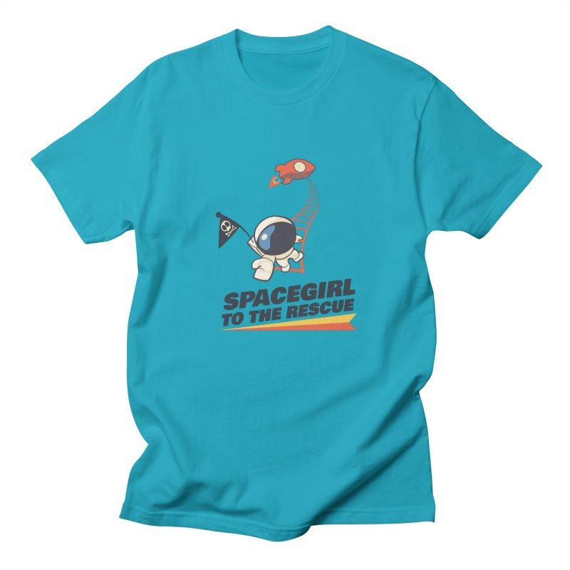 Spacegirl To The Rescue - Small Men's Regular T-Shirt by Spaceboy Books LLC's Artist Shop
