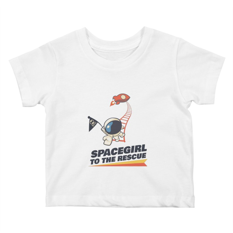 Spacegirl To The Rescue - Small Kids Baby T-Shirt by Spaceboy Books LLC's Artist Shop