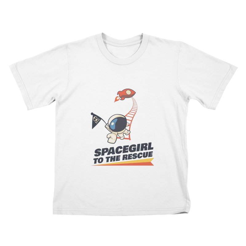 Spacegirl To The Rescue - Small Kids T-Shirt by Spaceboy Books LLC's Artist Shop