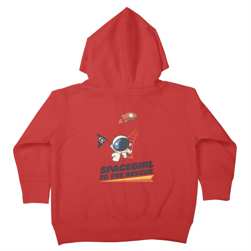 Spacegirl To The Rescue - Small Kids Toddler Zip-Up Hoody by Spaceboy Books LLC's Artist Shop