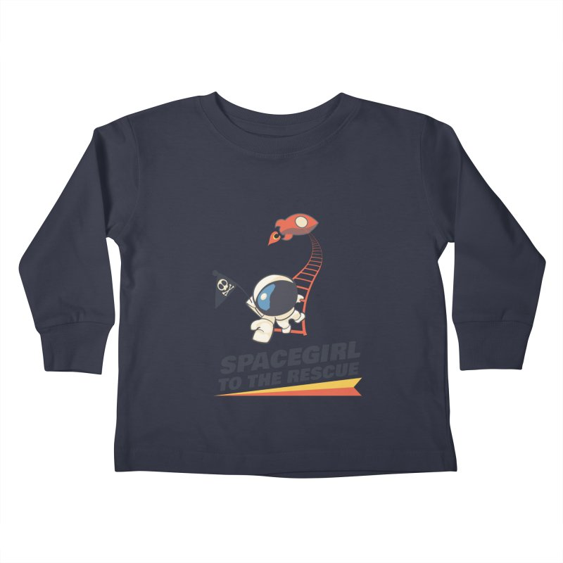 Spacegirl To The Rescue - Small Kids Toddler Longsleeve T-Shirt by Spaceboy Books LLC's Artist Shop