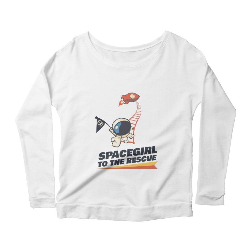Spacegirl To The Rescue - Small Women's Scoop Neck Longsleeve T-Shirt by Spaceboy Books LLC's Artist Shop