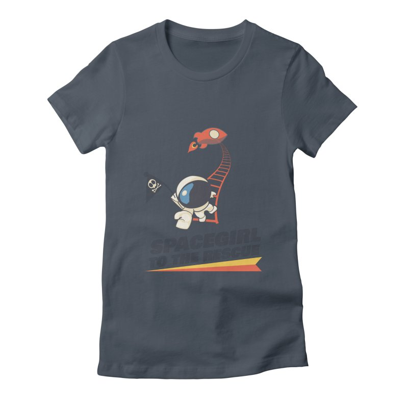 Spacegirl To The Rescue - Small Women's T-Shirt by Spaceboy Books LLC's Artist Shop
