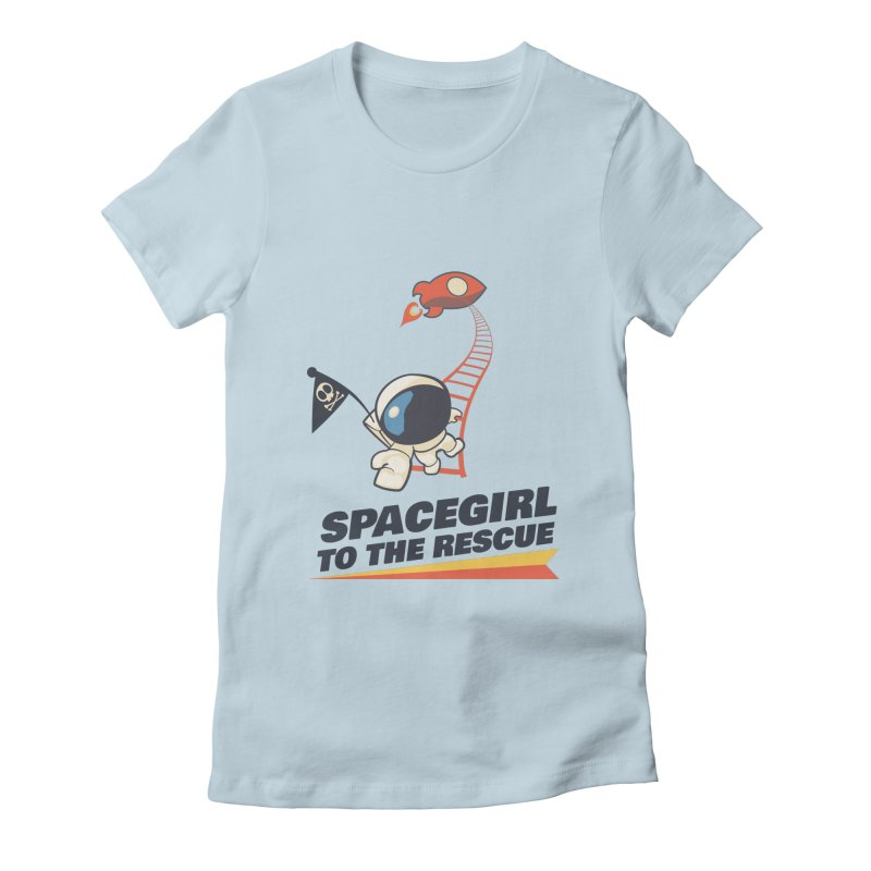 Spacegirl To The Rescue - Small Women's Fitted T-Shirt by Spaceboy Books LLC's Artist Shop
