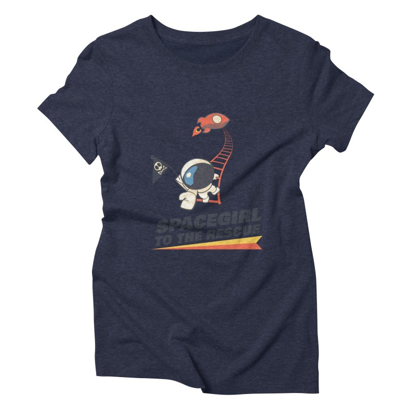 Spacegirl To The Rescue - Small Women's Triblend T-Shirt by Spaceboy Books LLC's Artist Shop