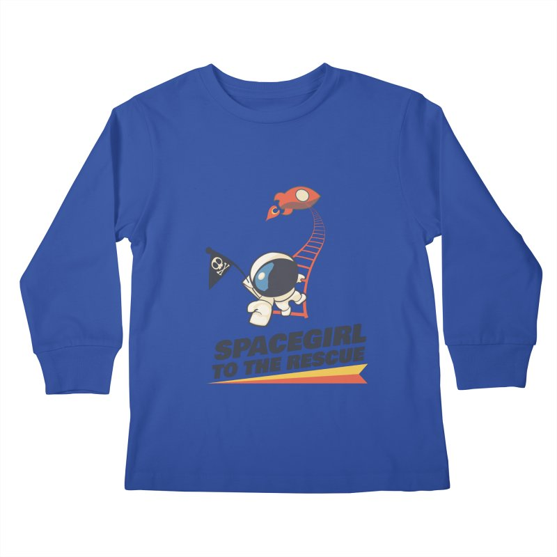 Spacegirl To The Rescue - Small Kids Longsleeve T-Shirt by Spaceboy Books LLC's Artist Shop