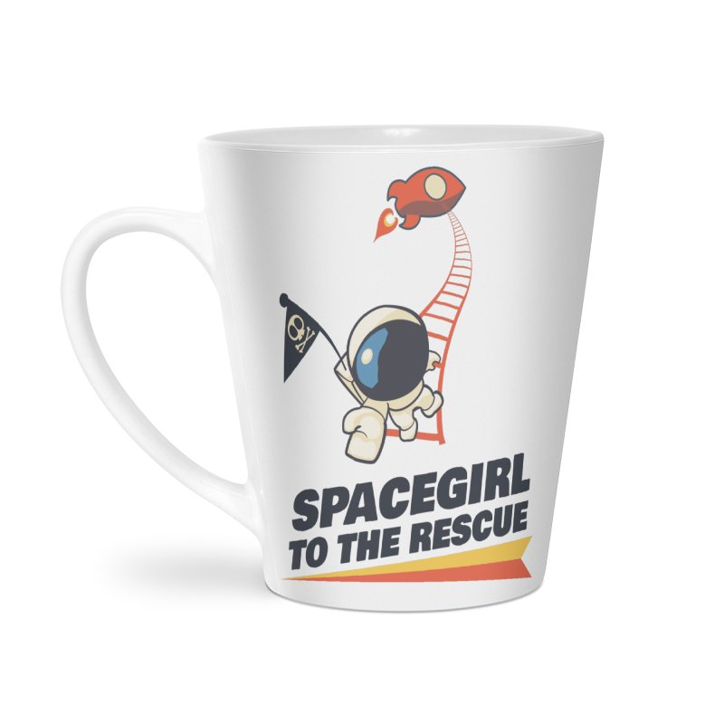 Spacegirl To The Rescue - Small Accessories Latte Mug by Spaceboy Books LLC's Artist Shop