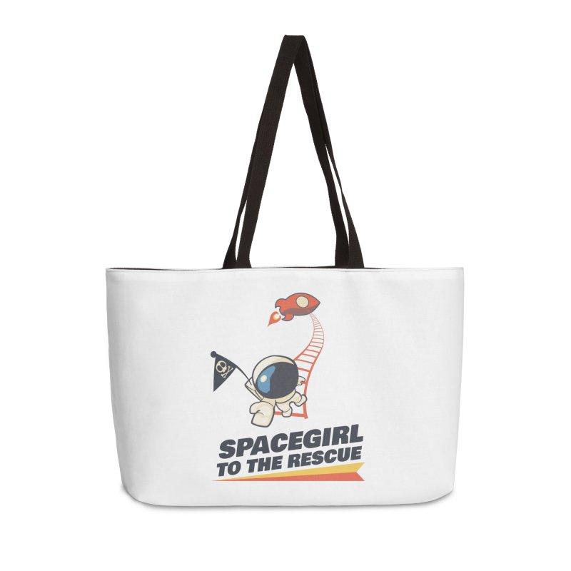Spacegirl To The Rescue - Small Accessories Weekender Bag Bag by Spaceboy Books LLC's Artist Shop