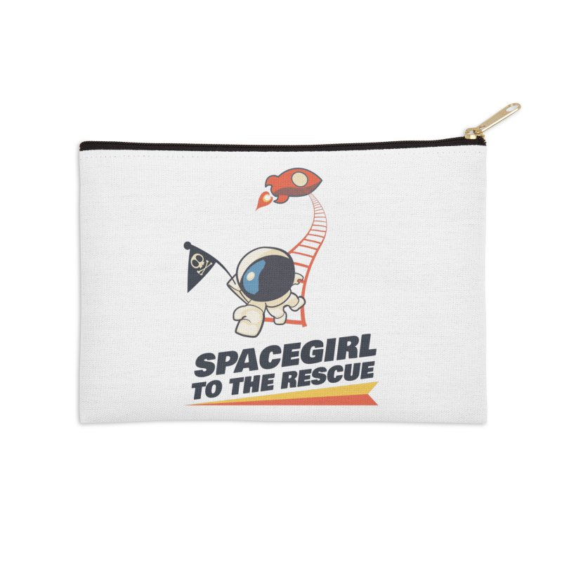 Spacegirl To The Rescue - Small Accessories Zip Pouch by Spaceboy Books LLC's Artist Shop