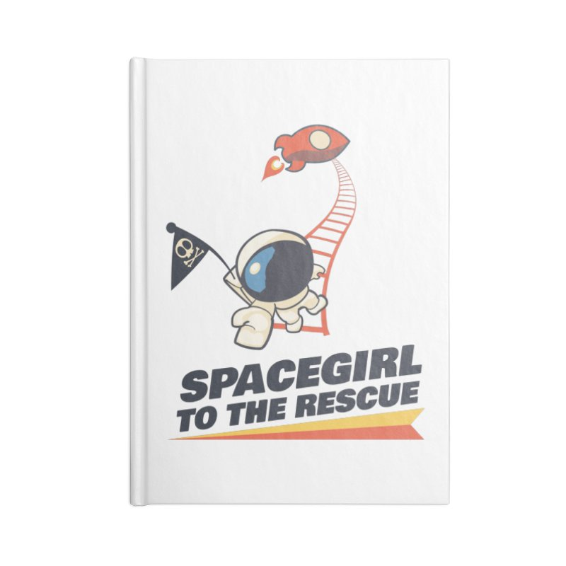 Spacegirl To The Rescue - Small Accessories Lined Journal Notebook by Spaceboy Books LLC's Artist Shop