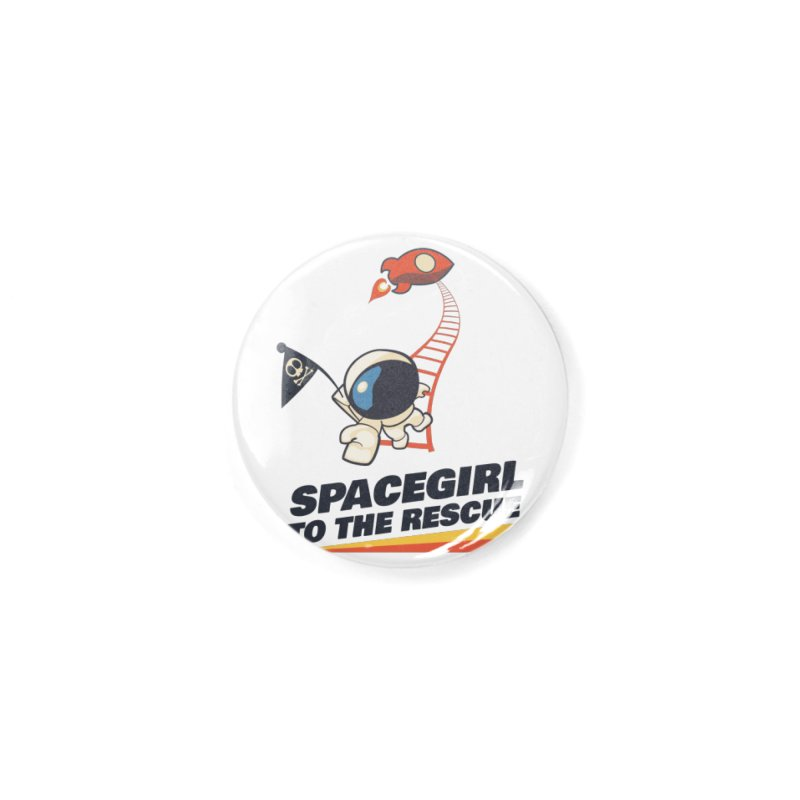 Spacegirl To The Rescue - Small Accessories Button by Spaceboy Books LLC's Artist Shop