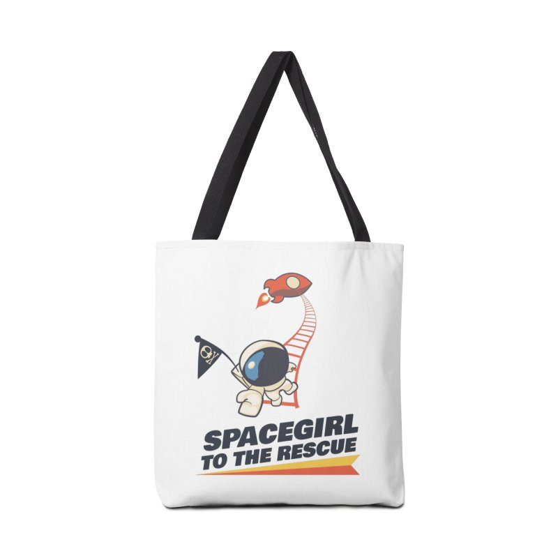 Spacegirl To The Rescue - Small Accessories Tote Bag Bag by Spaceboy Books LLC's Artist Shop
