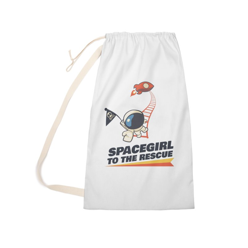 Spacegirl To The Rescue - Small Accessories Laundry Bag Bag by Spaceboy Books LLC's Artist Shop