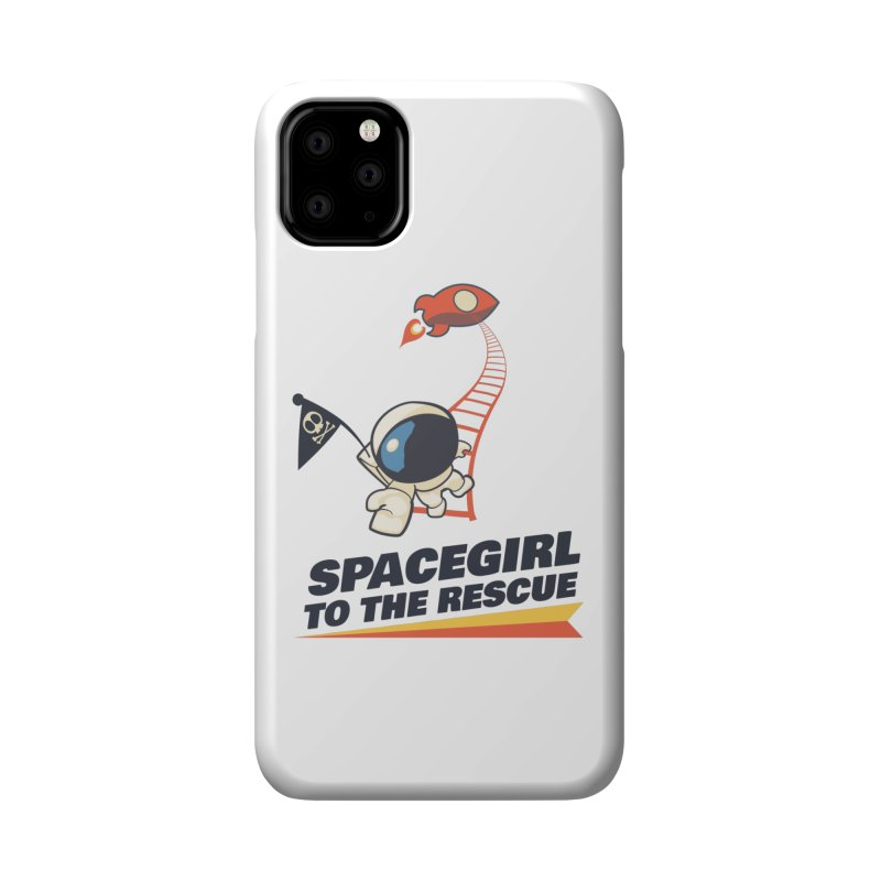Spacegirl To The Rescue - Small Accessories Phone Case by Spaceboy Books LLC's Artist Shop