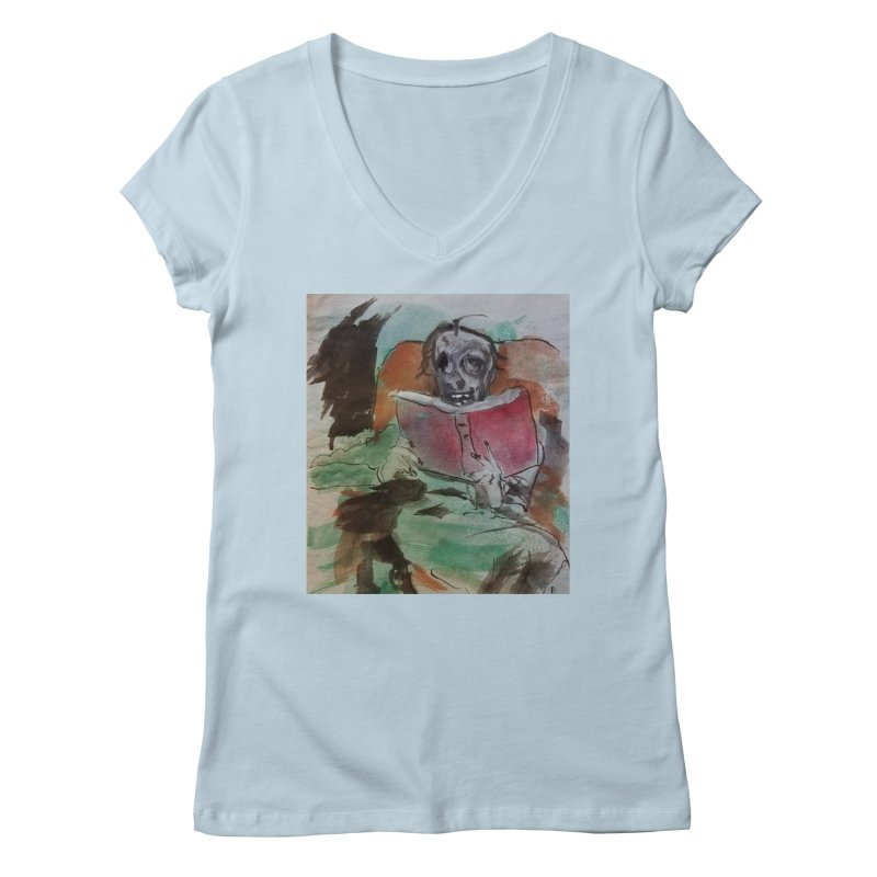BONED Every Which Way 2016 - Reading Women's Regular V-Neck by Spaceboy Books LLC's Artist Shop