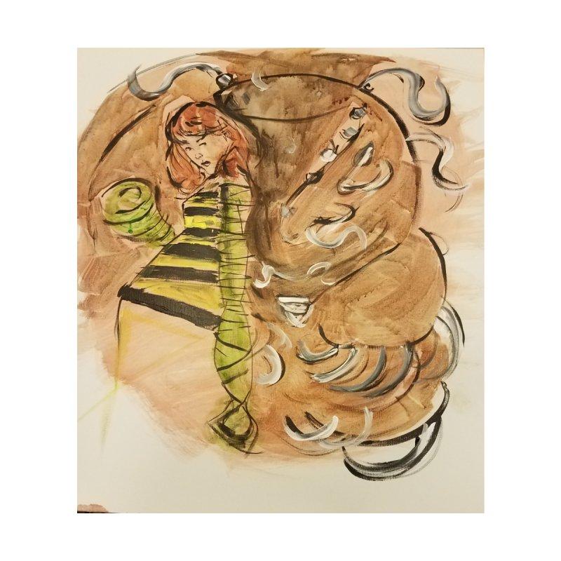 Margo Chicago fights a Tardigrade - Leech Girl Lives by Spaceboy Books LLC's Artist Shop