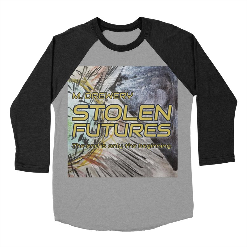 Stolen Futures Cover Art Men's Baseball Triblend Longsleeve T-Shirt by Spaceboy Books LLC's Artist Shop