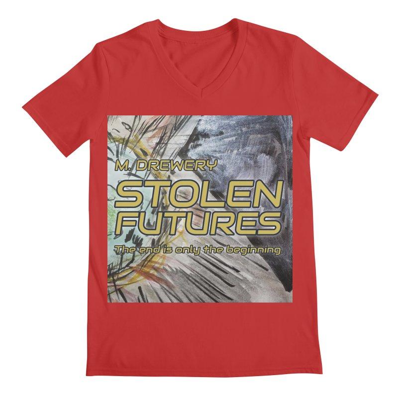 Stolen Futures Cover Art Men's Regular V-Neck by Spaceboy Books LLC's Artist Shop