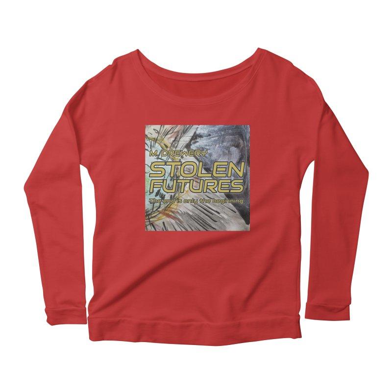 Stolen Futures Cover Art Women's Scoop Neck Longsleeve T-Shirt by Spaceboy Books LLC's Artist Shop