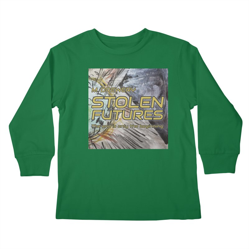 Stolen Futures Cover Art Kids Longsleeve T-Shirt by Spaceboy Books LLC's Artist Shop