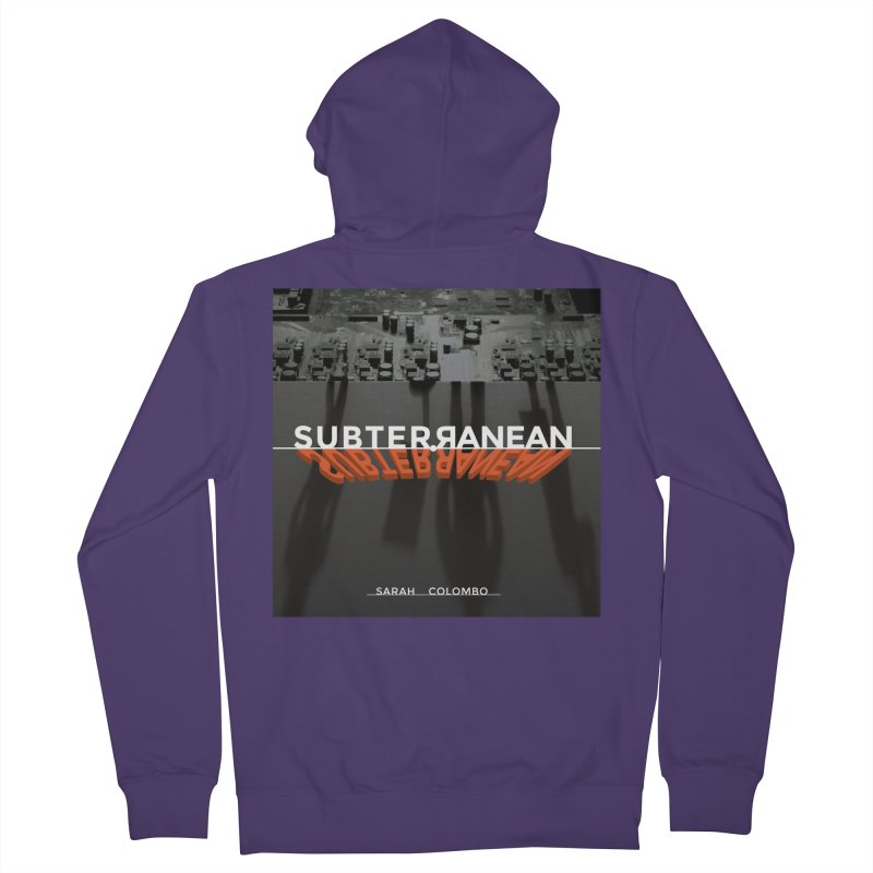 Subterranean Women's French Terry Zip-Up Hoody by Spaceboy Books LLC's Artist Shop