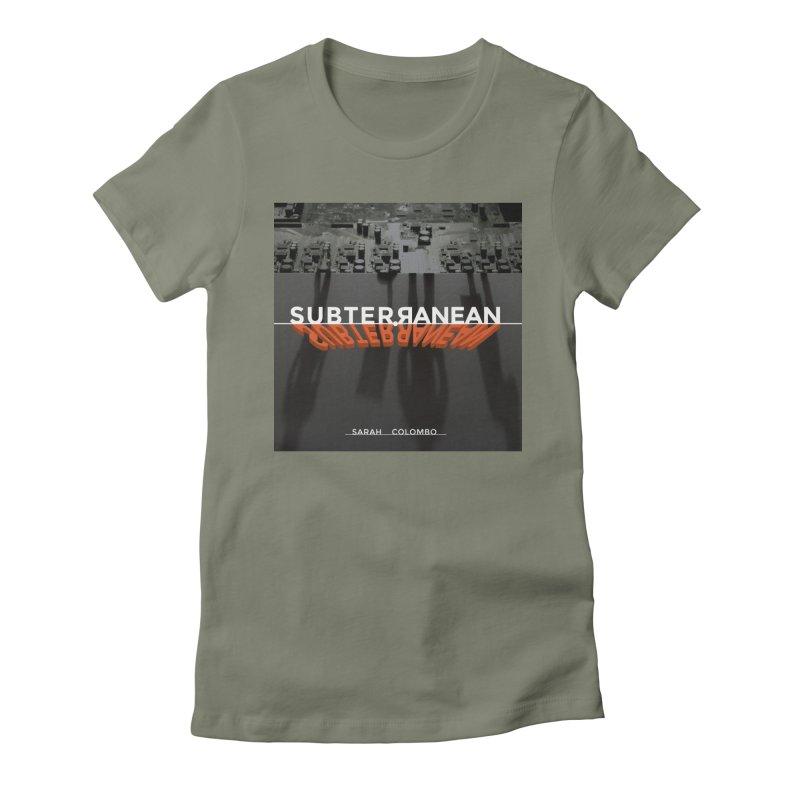 Subterranean Women's Fitted T-Shirt by Spaceboy Books LLC's Artist Shop