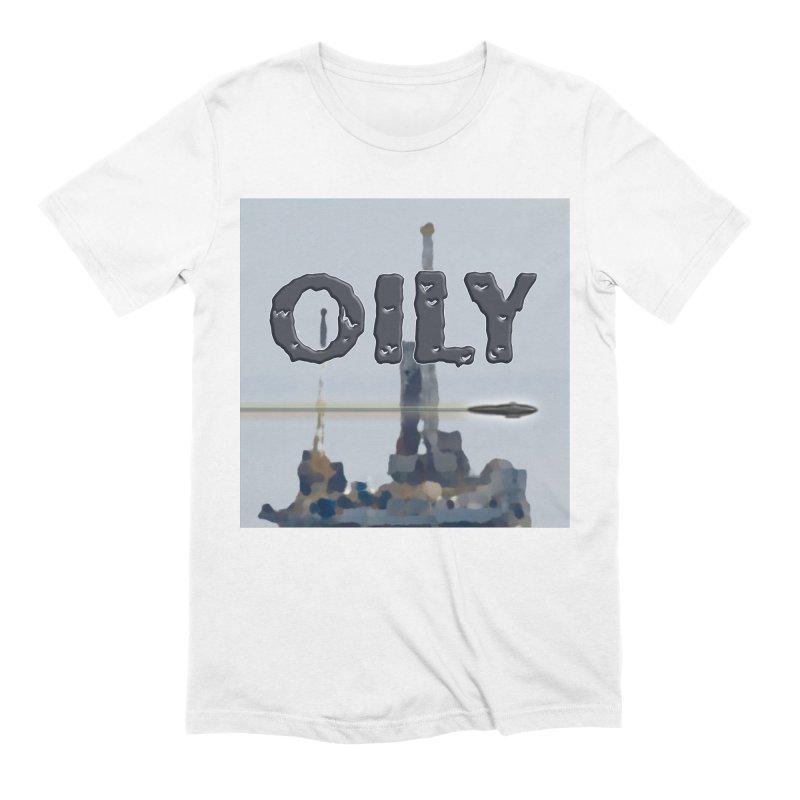 Oily Men's Extra Soft T-Shirt by Spaceboy Books LLC's Artist Shop