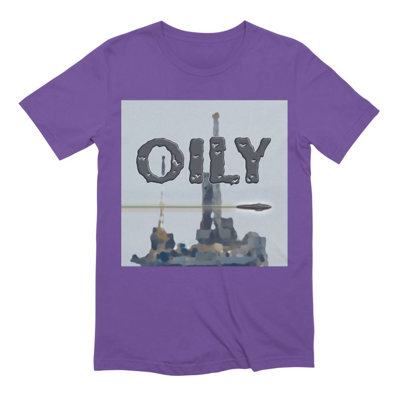 Oily Men's Extra Soft T-Shirt by Spaceboy Books LLC's Artist Shop