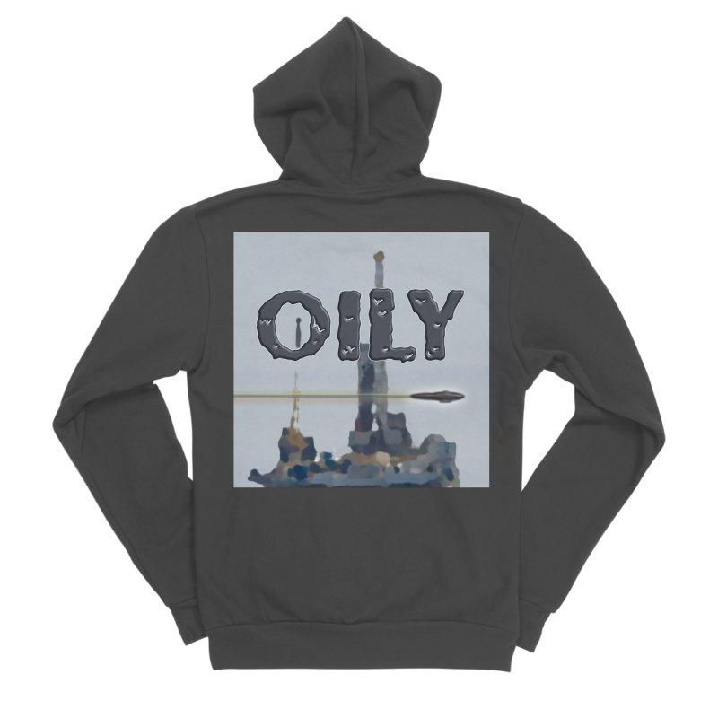 Oily Men's Sponge Fleece Zip-Up Hoody by Spaceboy Books LLC's Artist Shop