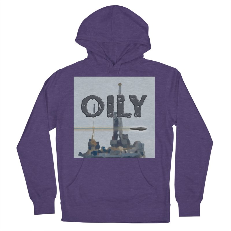Oily Men's French Terry Pullover Hoody by Spaceboy Books LLC's Artist Shop