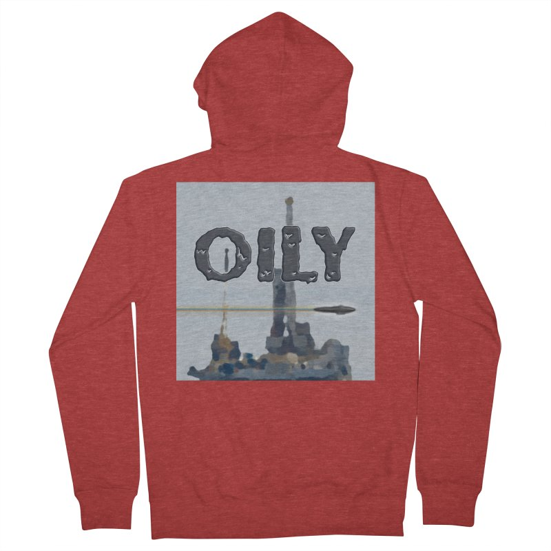Oily Women's French Terry Zip-Up Hoody by Spaceboy Books LLC's Artist Shop