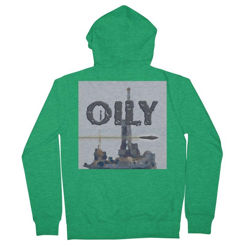 Oily Men's Zip-Up Hoody by Spaceboy Books LLC's Artist Shop