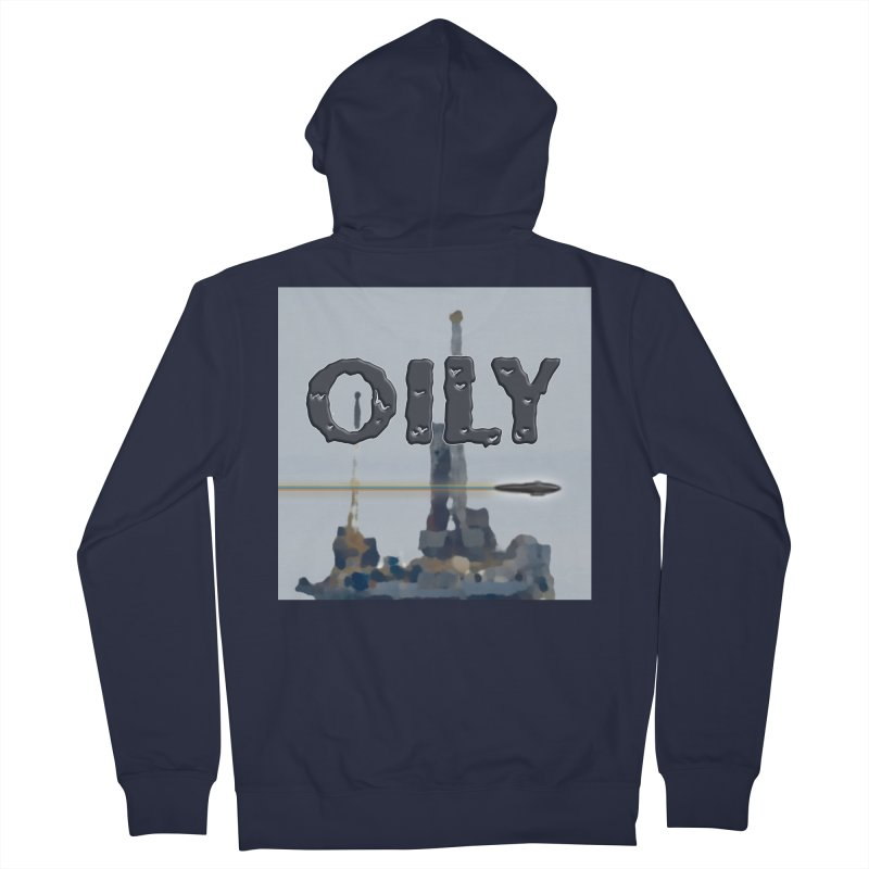 Oily Men's French Terry Zip-Up Hoody by Spaceboy Books LLC's Artist Shop