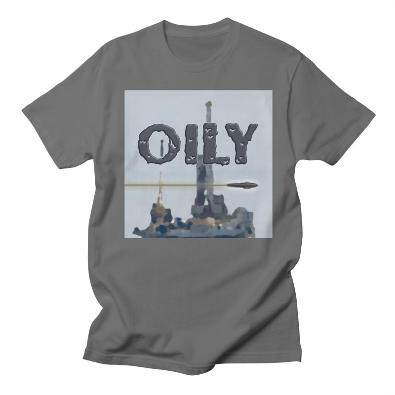 Oily Men's Regular T-Shirt by Spaceboy Books LLC's Artist Shop
