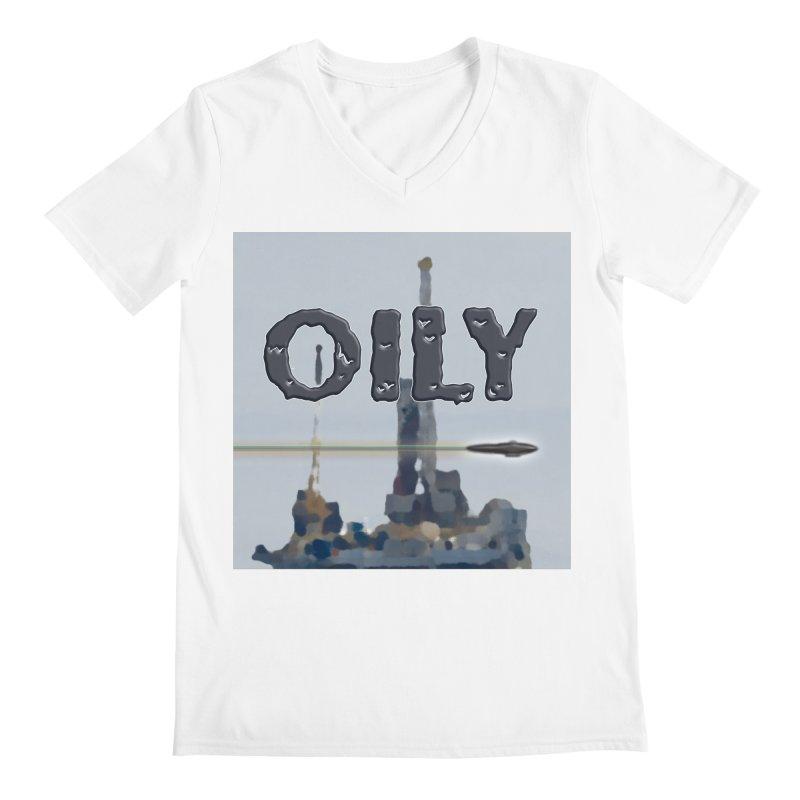 Oily Men's Regular V-Neck by Spaceboy Books LLC's Artist Shop