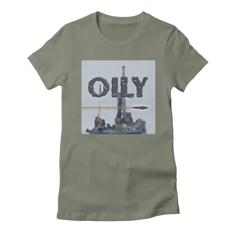 Oily Women's Fitted T-Shirt by Spaceboy Books LLC's Artist Shop