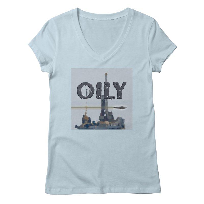 Oily Women's Regular V-Neck by Spaceboy Books LLC's Artist Shop