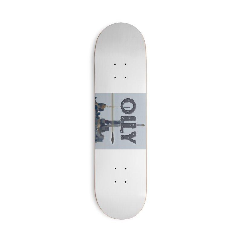 Oily Accessories Deck Only Skateboard by Spaceboy Books LLC's Artist Shop