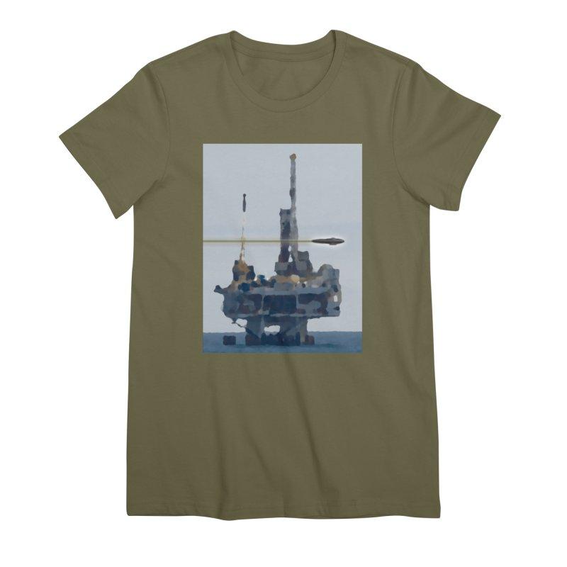 Oily - Art Only Women's Premium T-Shirt by Spaceboy Books LLC's Artist Shop