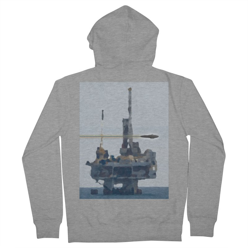 Oily - Art Only Women's French Terry Zip-Up Hoody by Spaceboy Books LLC's Artist Shop