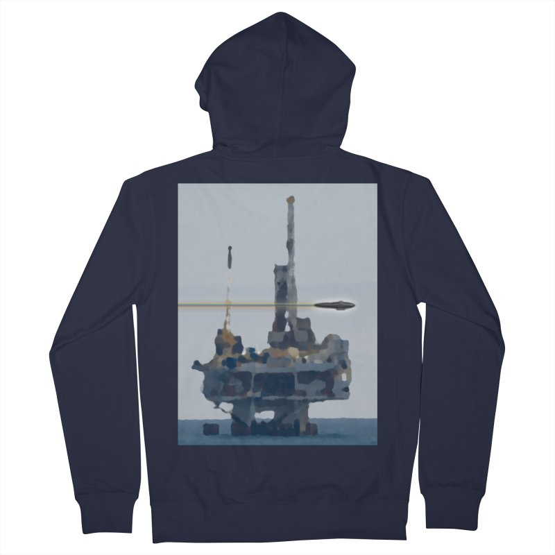 Oily - Art Only Men's French Terry Zip-Up Hoody by Spaceboy Books LLC's Artist Shop